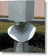 Cube Head Metal Print