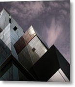 Cubic Reflection. Metal Print