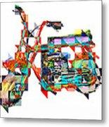 Cubist Mini Bike Metal Print by Russell Pierce