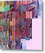 Colorful Old Buildings Of New York City - Pop-art Style Metal Print