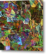 Night Market - Outdoor Markets Of New York City Metal Print