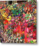 Tulips Of Many Colors - Nyc Markets Metal Print