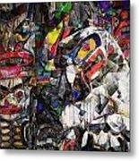 Cubist Photographic Composition Of Totem Poles Metal Print