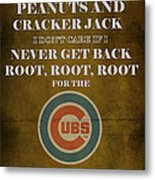 Cubs Peanuts And Cracker Jack  Metal Print