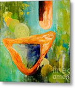 Cue L'orange Metal Print by Larry Martin