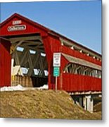 Culbertson Or Treacle Creek Covered Bridge Metal Print