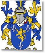 Culligan Coat Of Arms Irish Metal Print