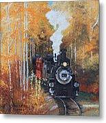Cumbres And Toltec Railroad Steam Train Metal Print by Cecilia Brendel