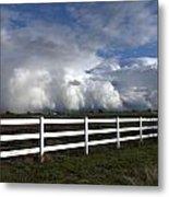 Cumulus Clouds Over Stockton Metal Print