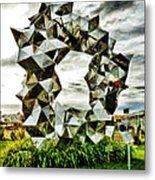 Cumulus Gate Pavilion For Richard Pearse By Gregor Kregar Metal Print