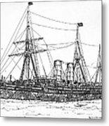 Cunard Liner Umbria 1880's Metal Print