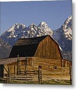 Cunningham Cabin Grand Tetons Wyoming Metal Print