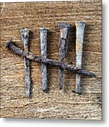 Counting With Old Nails Metal Print