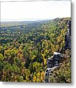 Cup And Saucer Trail Metal Print