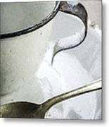 Cup And Spoon Metal Print