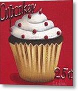 Cupcakes 25 Cents Metal Print