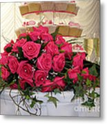 Cupcakes And Roses Metal Print by Terri Waters