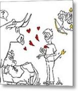 Cupid Valentines Metal Print