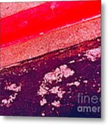 Curb Abstration Metal Print