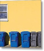 Curbside Trash Pick Up Metal Print