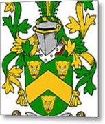 Curdy Coat Of Arms Irish Metal Print