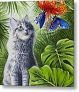 Curious Kiwi Metal Print by Carolyn Steele