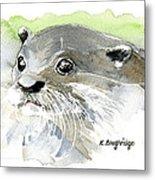 Curious Otter Metal Print