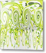 Curly Greens Metal Print