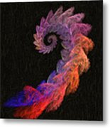 Curly Swirl - Digital Painting Effect Metal Print