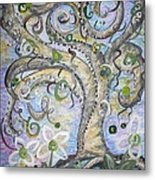 Curly Tree In Fantasy Land Metal Print