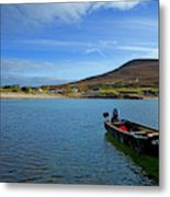 Curragh Moored At Dooega Village Metal Print