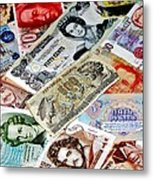 Currencies Metal Print