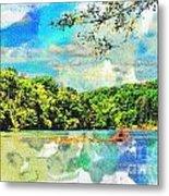 Current River Mo - Digital Paint II Metal Print