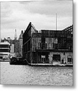 Currently Condemned Pier 64 On The Hudson River New York City Metal Print