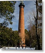 Currituck Beach Lighthouse Corolla Nc Color Img 3772 Metal Print