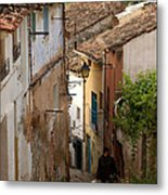Currruca Slope In Calahorra Metal Print