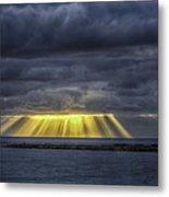 Curtain Sunrise At Orient Beach Metal Print