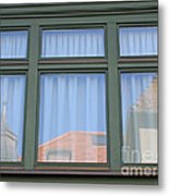 Curtained Reflection Metal Print