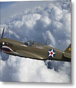 Curtiss P-40 Warhawk Flying Tigers Metal Print