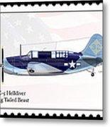 Curtiss Wright Sb2c-5 Helldiver Metal Print