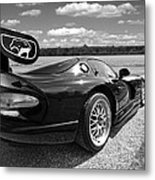 Curvalicious Viper In Black And White Metal Print