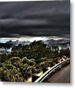 Curve On The Road To Heaven  Metal Print