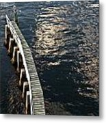 Curved Fender Las Olas Drawbridge Fort Lauderdale Florida Metal Print