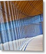 Curved Glass Wall Pattern Metal Print by ELITE IMAGE photography By Chad McDermott