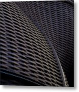 Curved Lattice Structure  Metal Print
