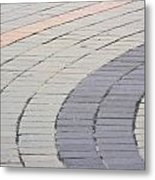 Curved Pavement As Background Metal Print
