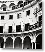 Curved Seville Spain Courtyard Metal Print