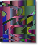 Curves And Trapezoids 3 Metal Print