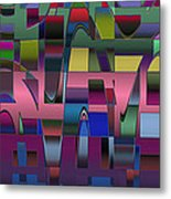 Curves And Trapezoids  Metal Print