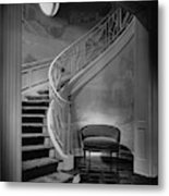 Curving Staircase In The Home Of  W. E. Sheppard Metal Print